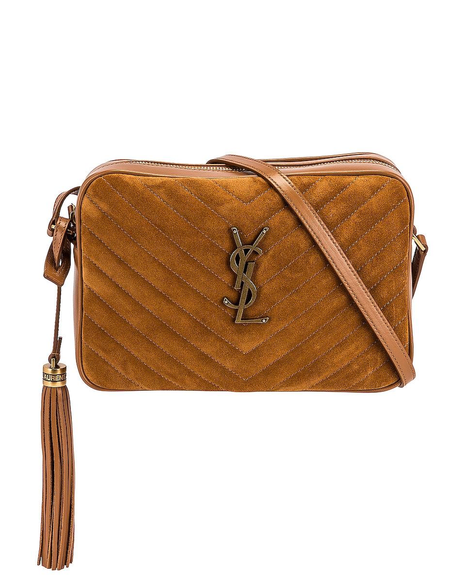 Image 1 of Saint Laurent Medium Lou Satchel Bag in Cinnamon