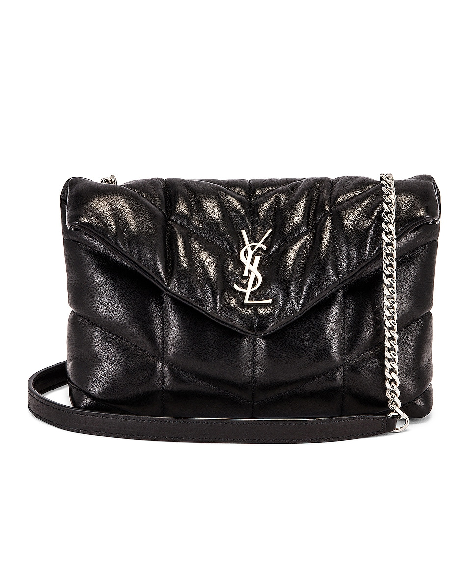 Image 1 of Saint Laurent Toy Puffer Loulou in Noir