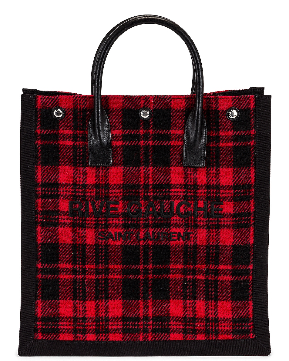 Image 1 of Saint Laurent Noe North South Tote in Rosso & Nero