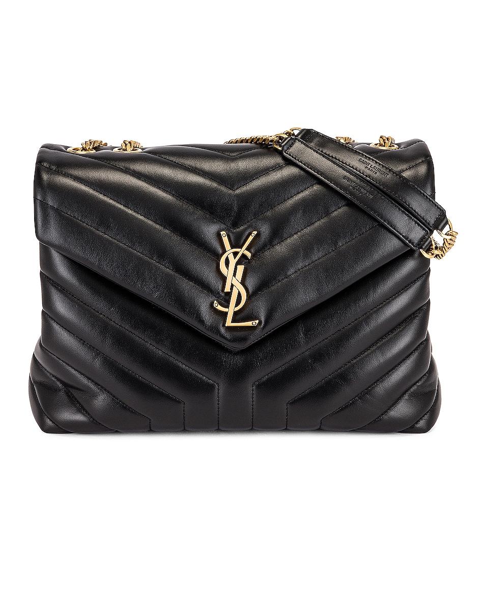 Image 1 of Saint Laurent Medium Loulou Chain Bag in Noir
