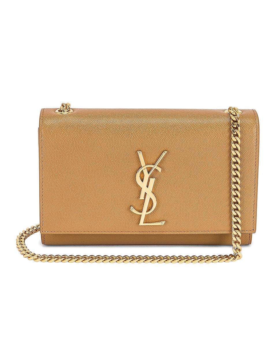 Image 1 of Saint Laurent Small Kate Chain Bag in Natural Tan