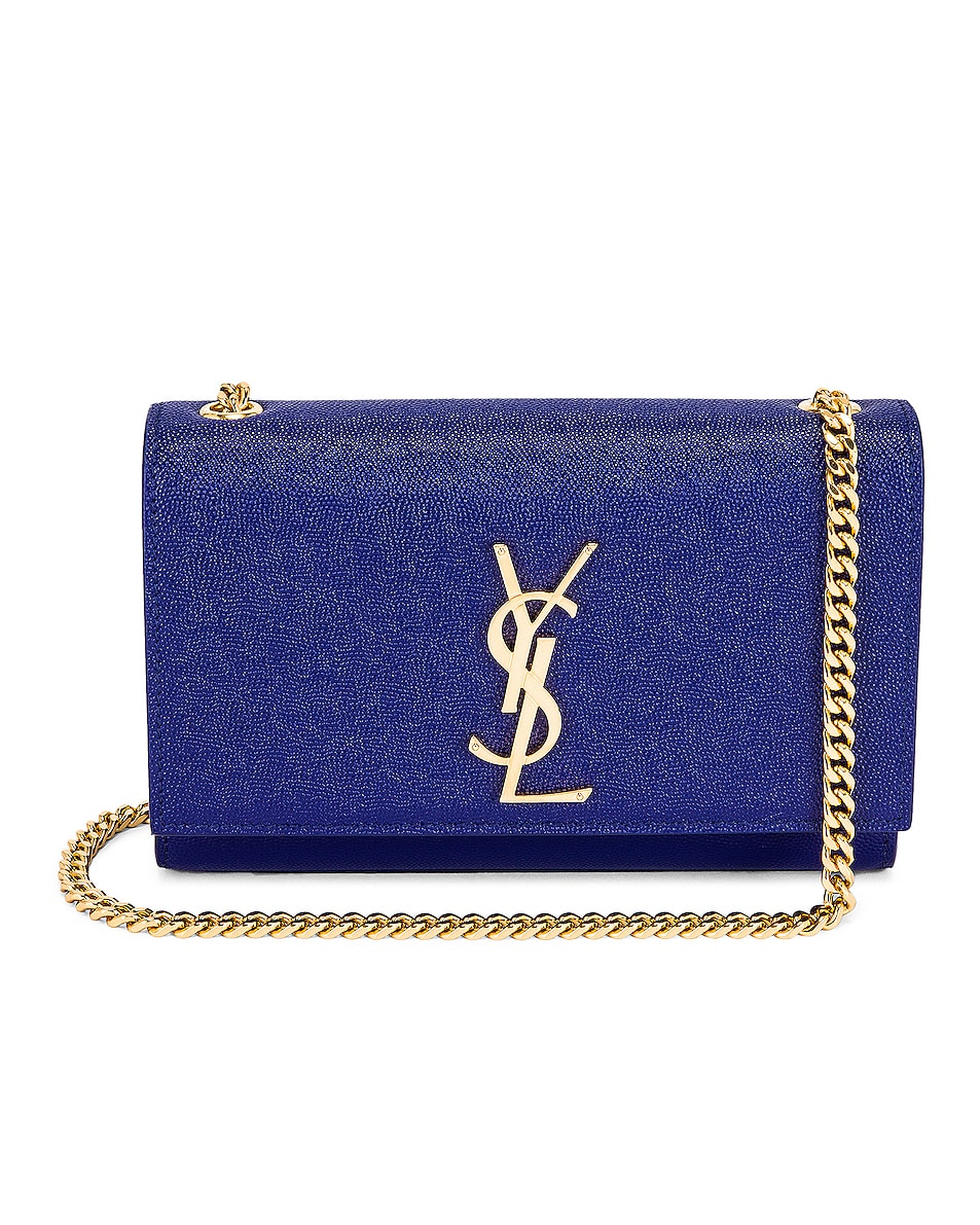 Image 1 of Saint Laurent Small Kate Chain Bag in Sapphire Blue