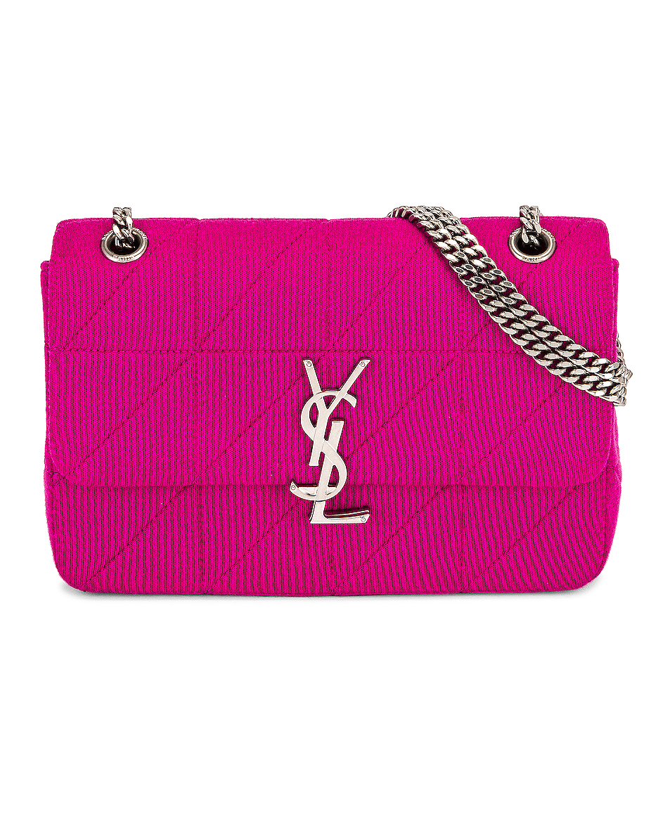 Image 1 of Saint Laurent Medium Jamie Lock Chain Bag in Bubble Pink