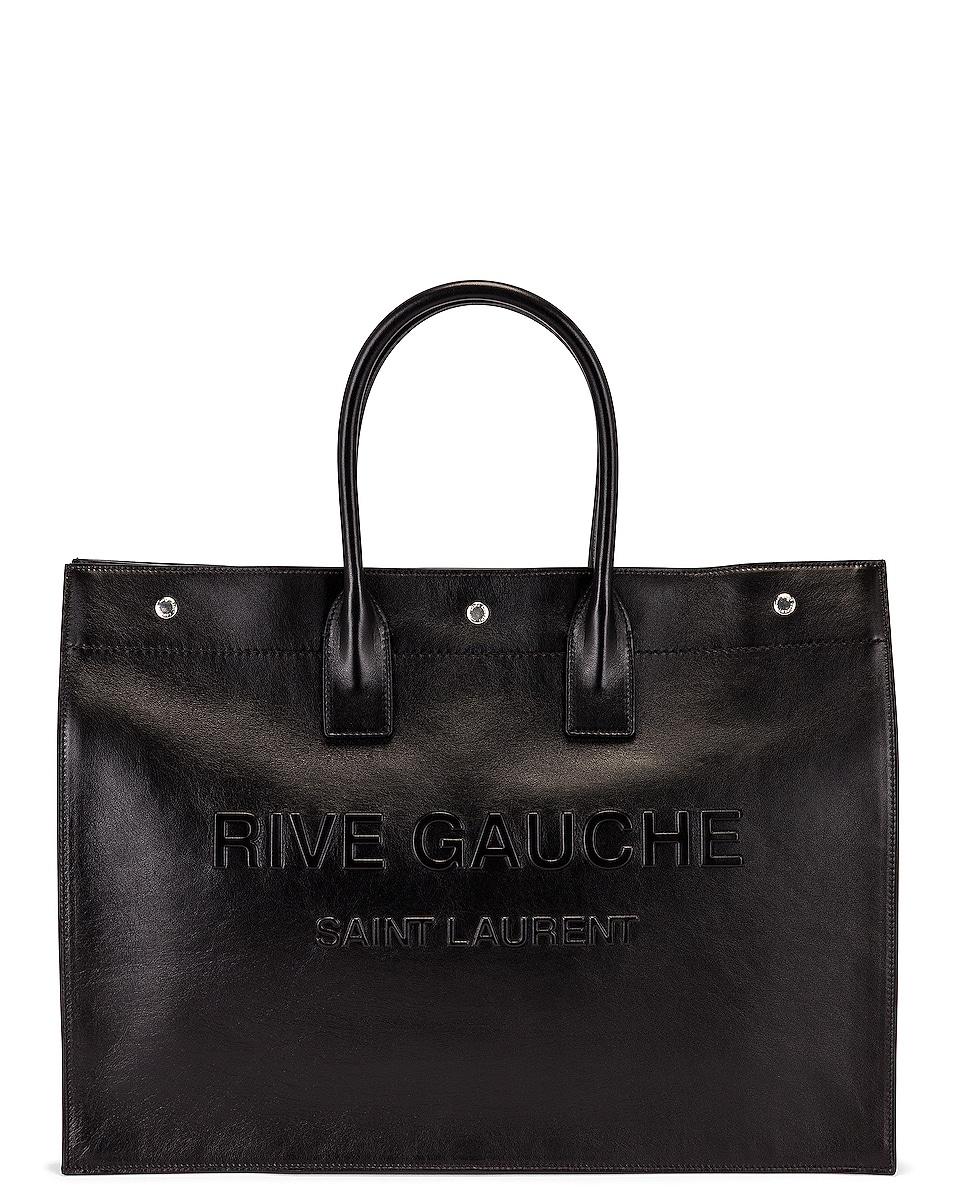Image 1 of Saint Laurent YSL Tote in Black
