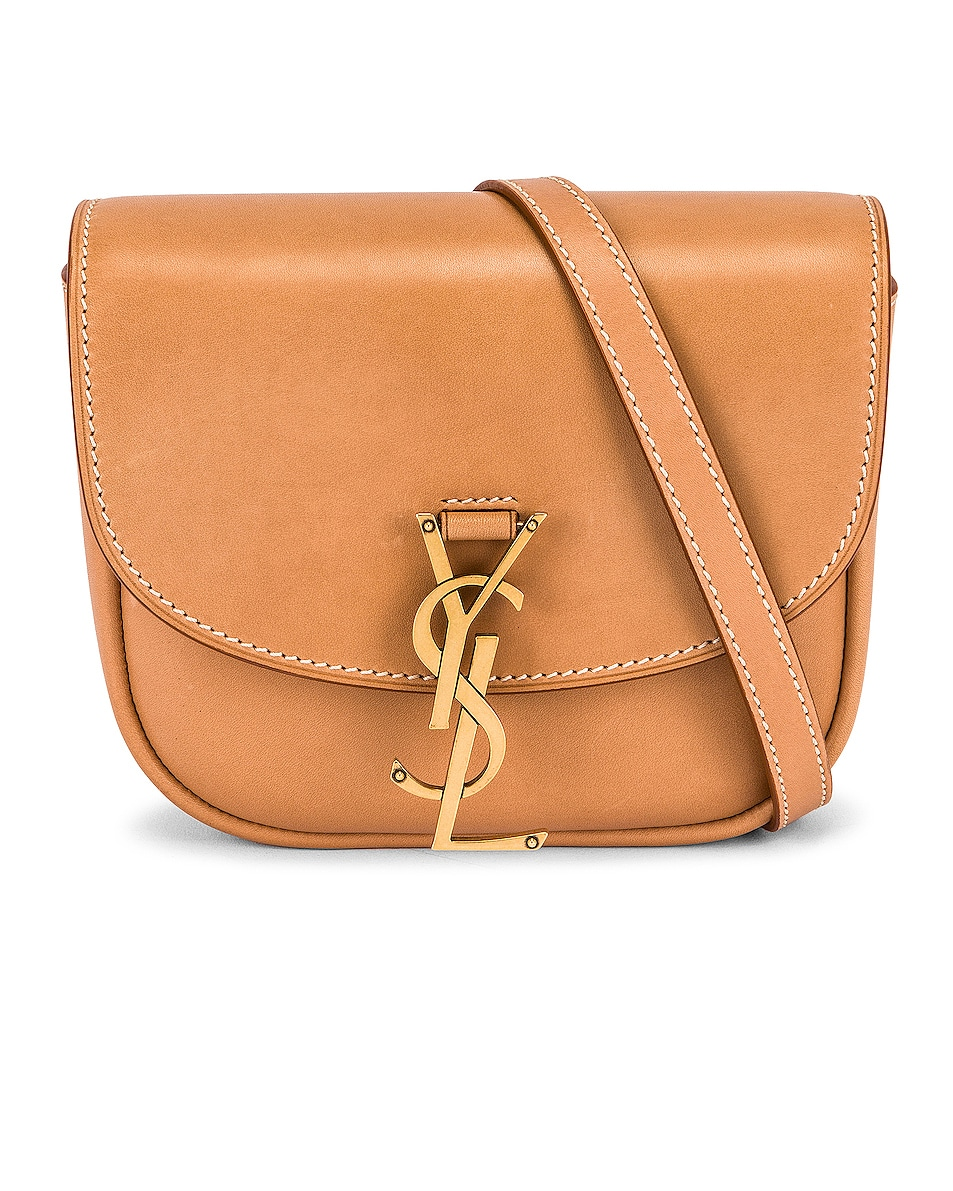 Image 1 of Saint Laurent Small Kaia Satchel in Brown Gold