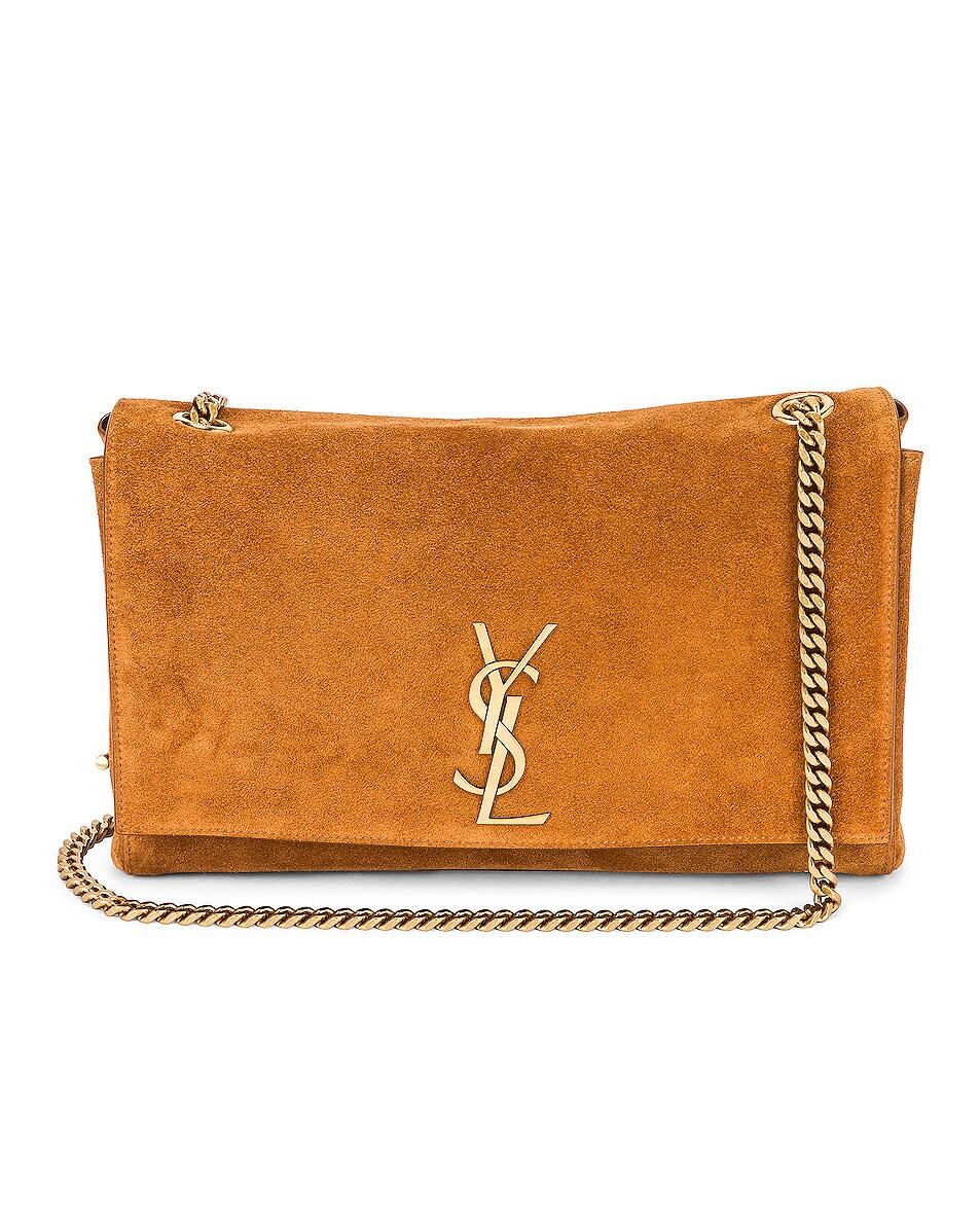 Image 1 of Saint Laurent Medium Kate Reversible Chain Bag in Cinnamon & Cinnamon & Caramel
