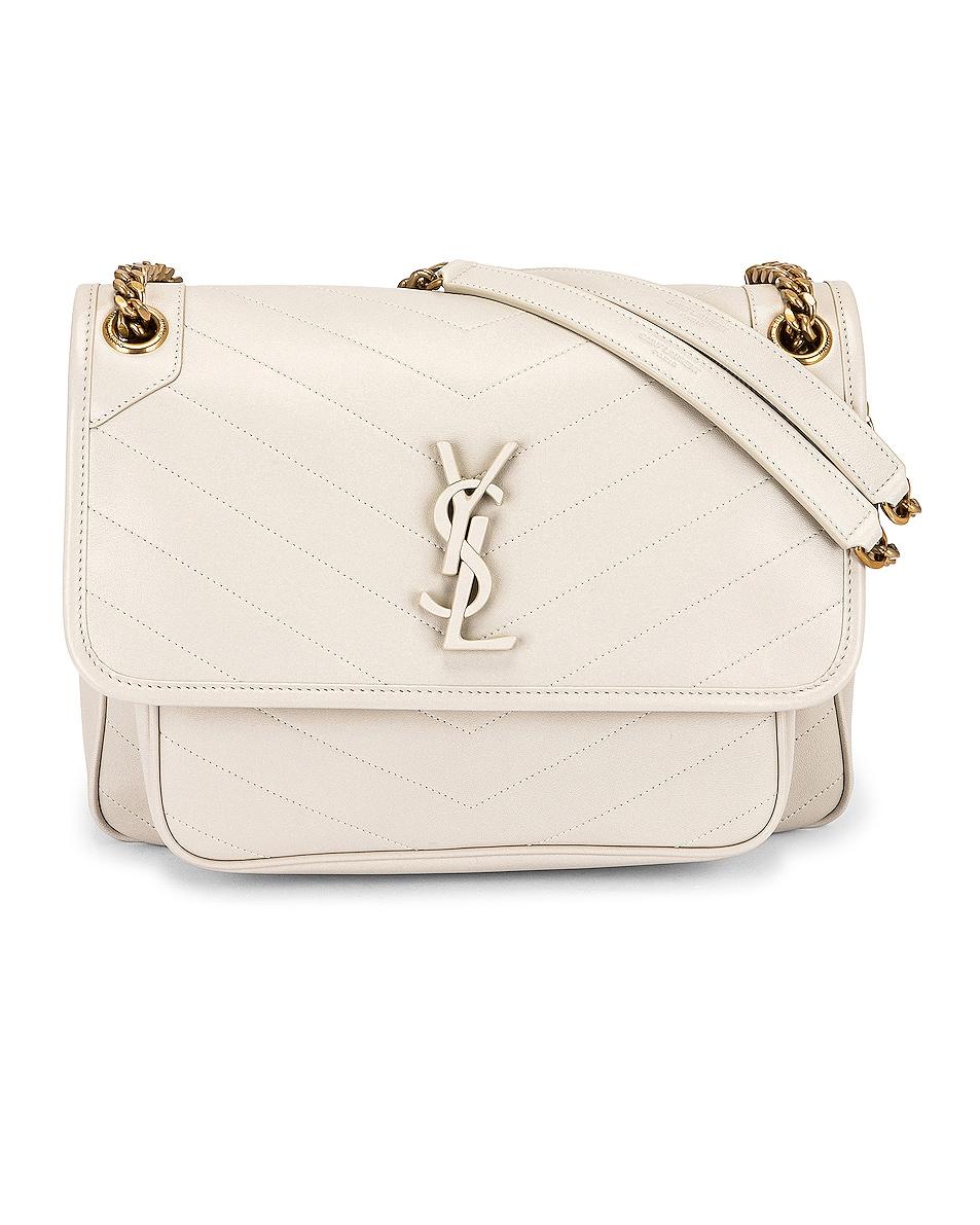 Image 1 of Saint Laurent Medium Niki Chain bag in Blanc Vintage