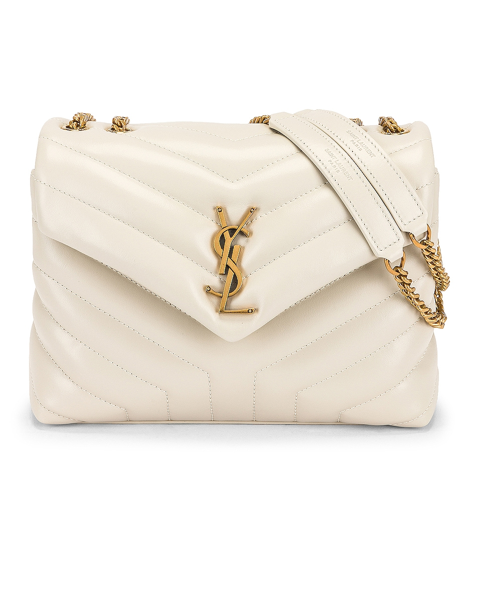 Image 1 of Saint Laurent Small Loulou Chain Bag in Blanc Vintage