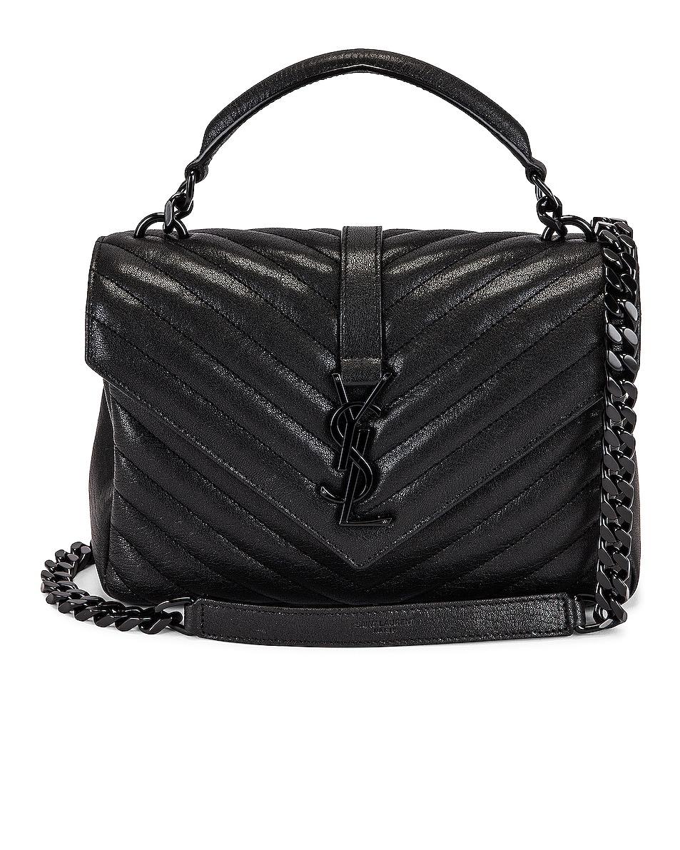 Image 1 of Saint Laurent Medium College Chain Bag in Noir
