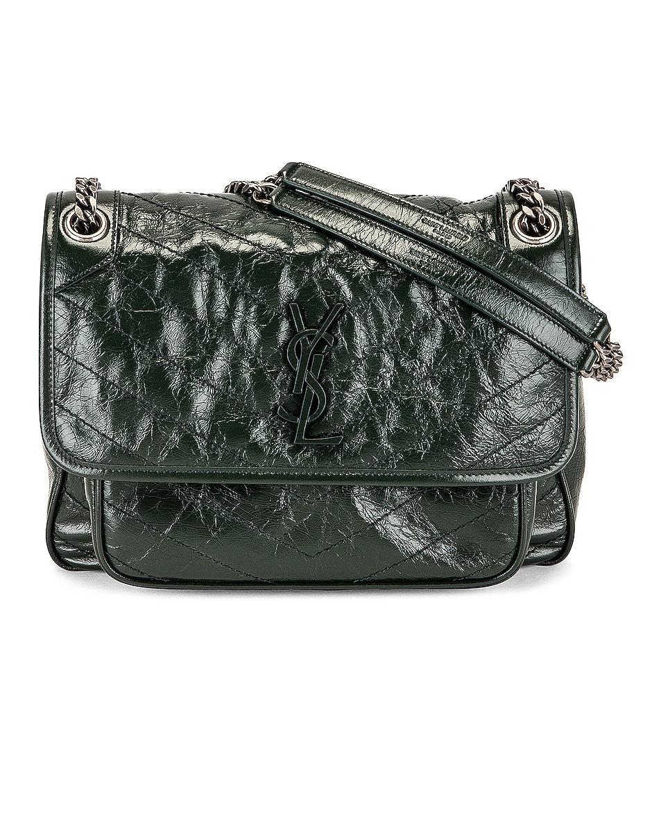 Image 1 of Saint Laurent Medium Niki Chain Bag in Vert Fonce