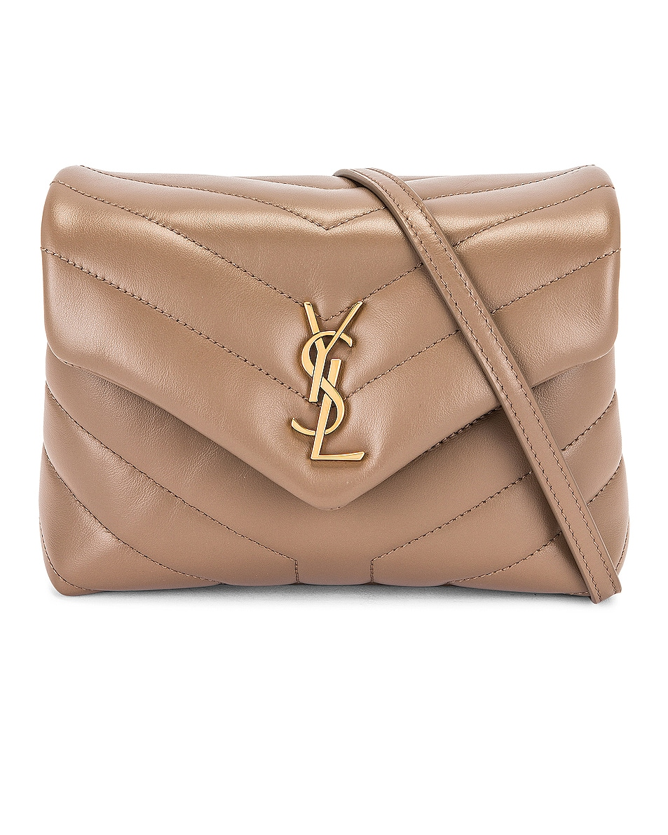 Image 1 of Saint Laurent Loulou Toy Strap Bag in Taupe