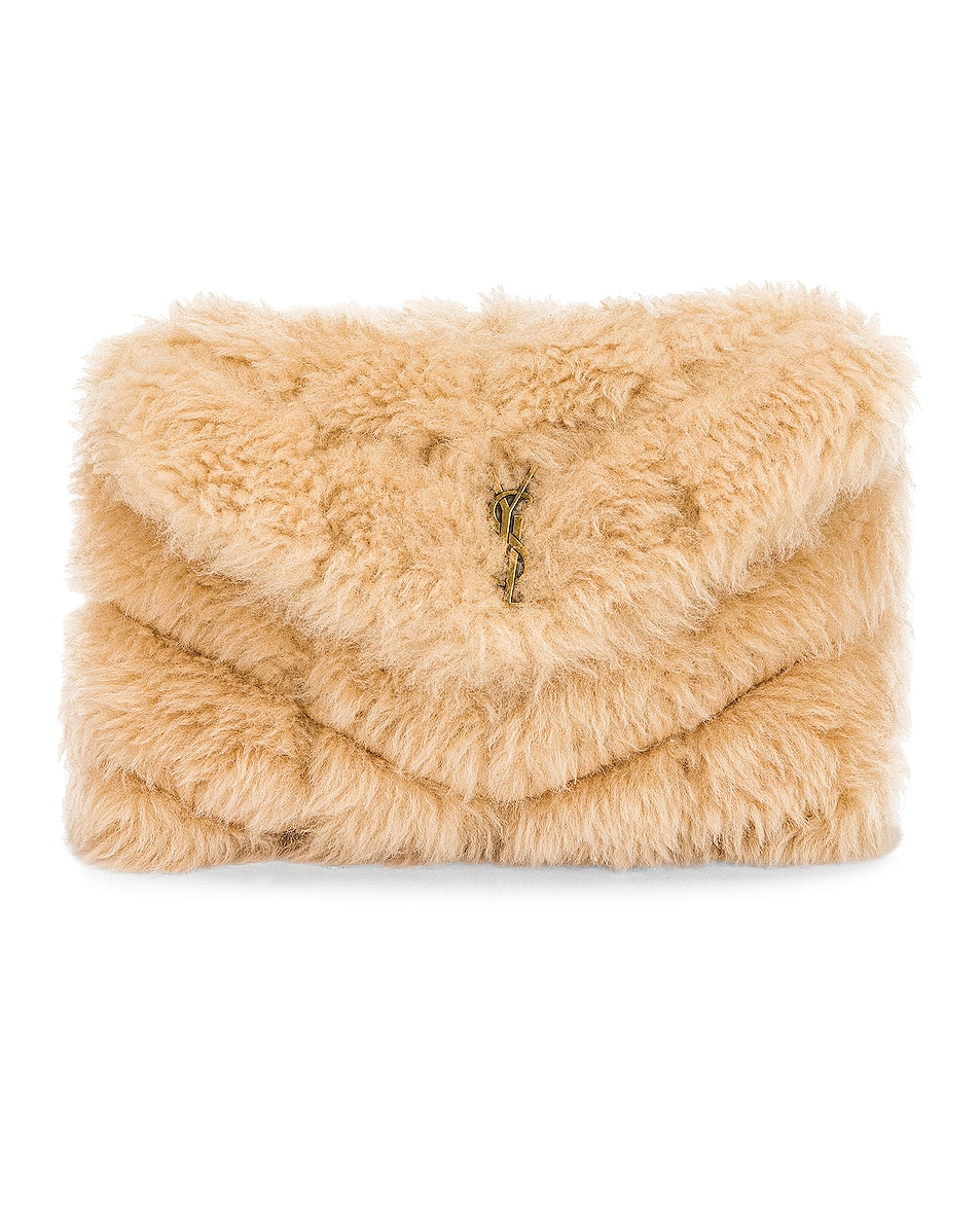 Image 1 of Saint Laurent Small Puffer Pouch in Natural Beige