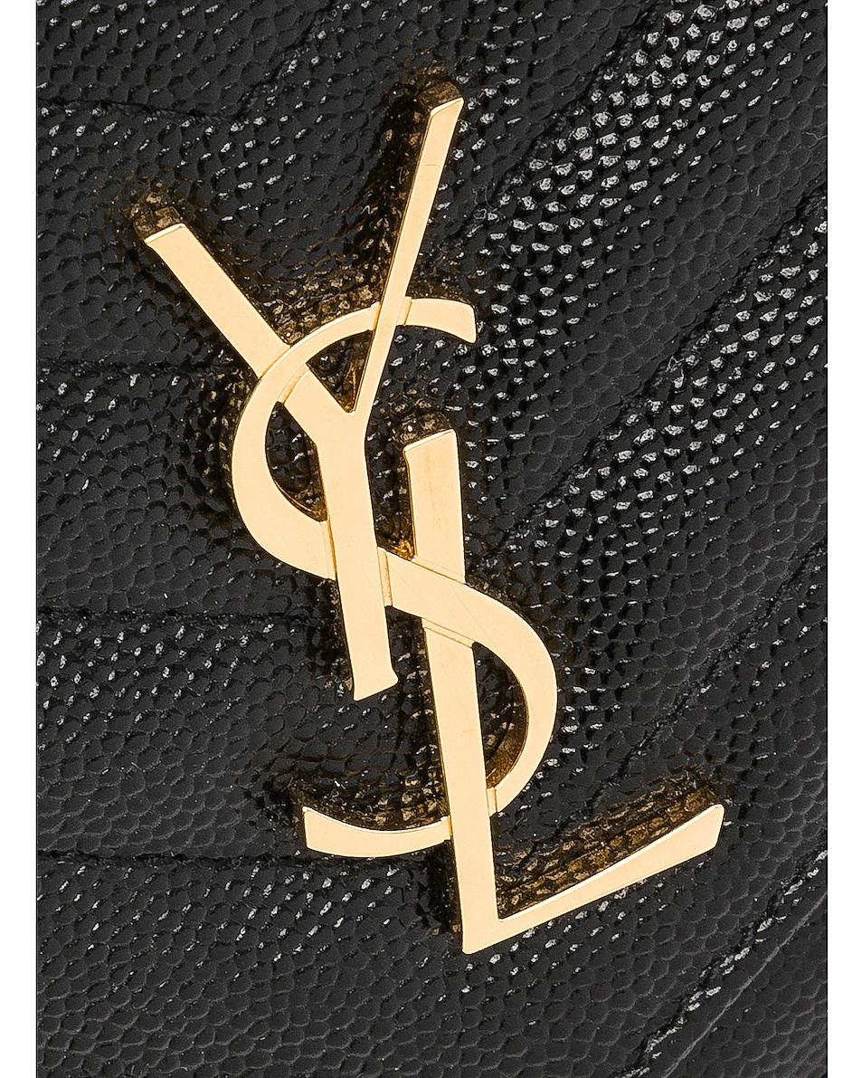 Image 8 of Saint Laurent Monogramme Chain Wallet in Black