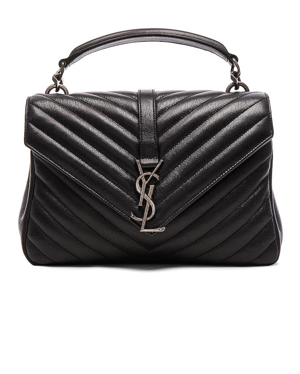 Image 1 of Saint Laurent Medium Monogramme College Bag in Black