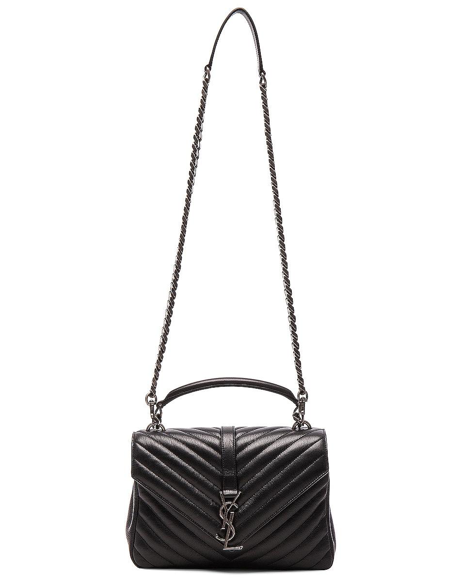 Image 6 of Saint Laurent Medium Monogramme College Bag in Black