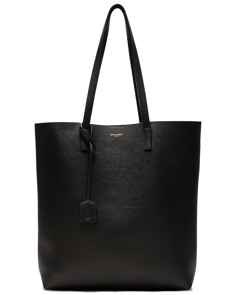 Image 1 of Saint Laurent North South Shopping Bag in Black