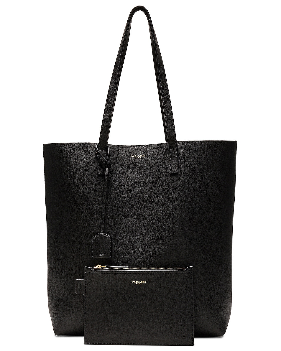 Image 6 of Saint Laurent North South Shopping Bag in Black