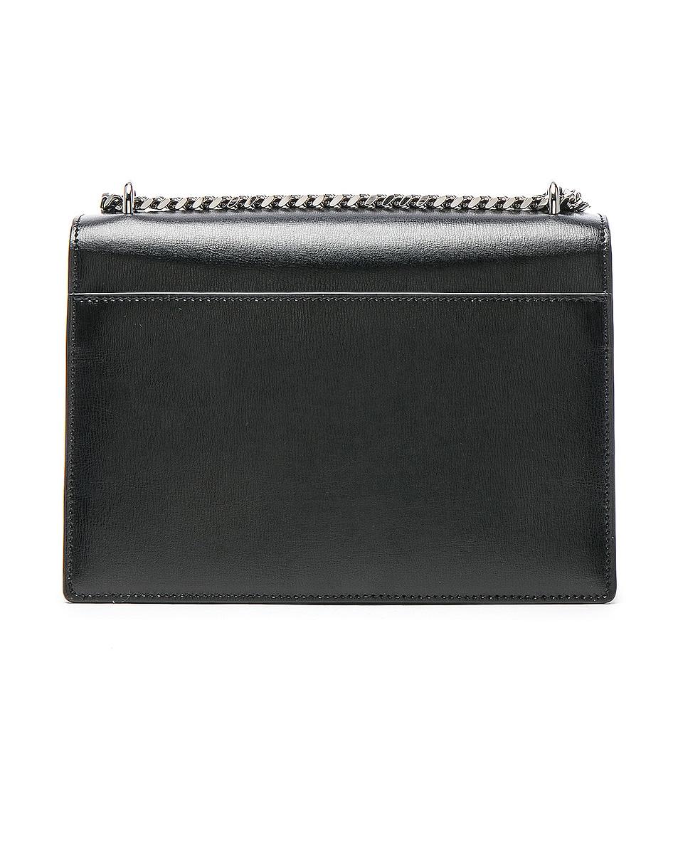 Image 3 of Saint Laurent Medium Monogramme Sunset Chain Bag in Black