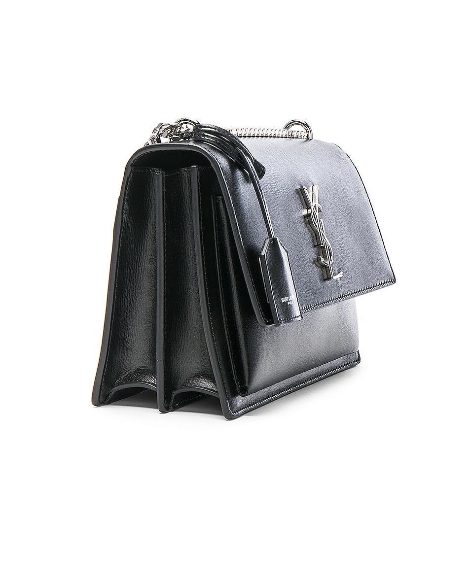 Image 4 of Saint Laurent Medium Monogramme Sunset Chain Bag in Black