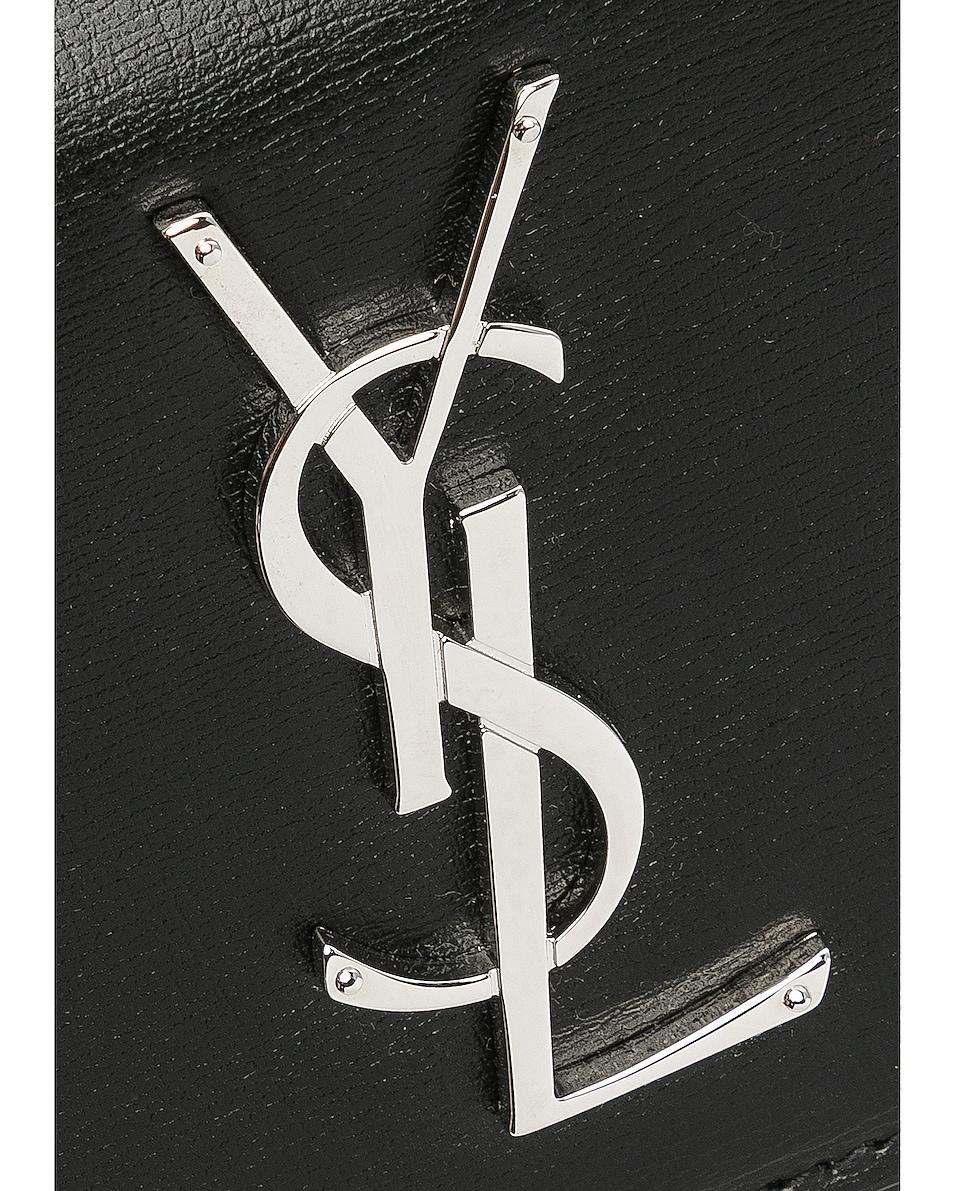 Image 8 of Saint Laurent Medium Monogramme Sunset Chain Bag in Black