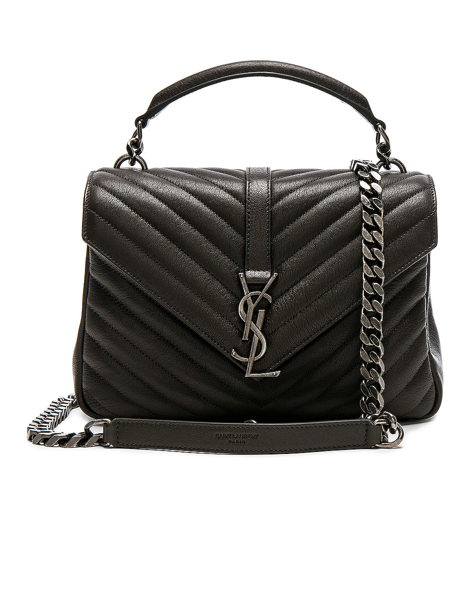 Image 1 of Saint Laurent Medium Monogramme College Bag in Dark Anthracite