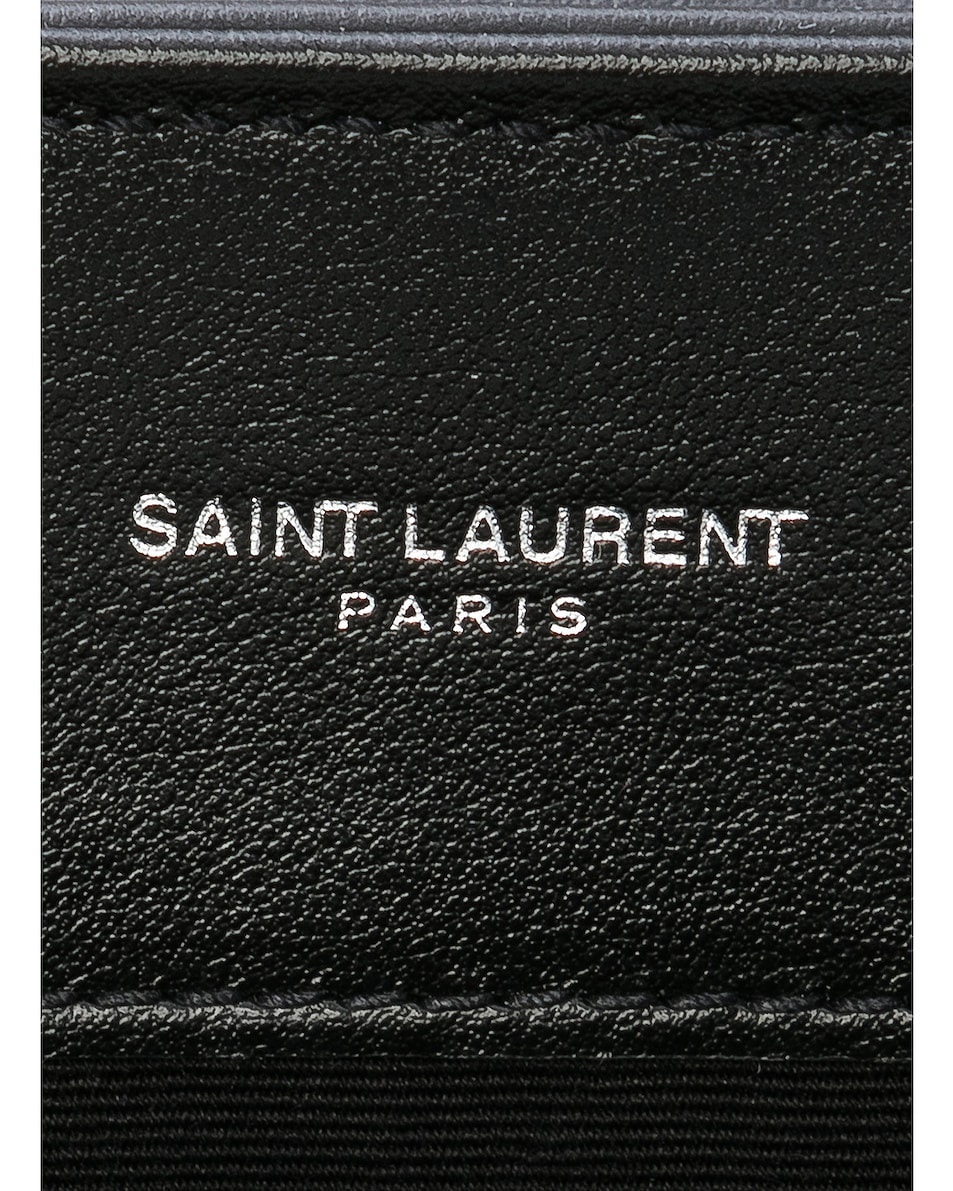 Image 6 of Saint Laurent Medium Supple Monogramme Loulou Chain Bag in Black