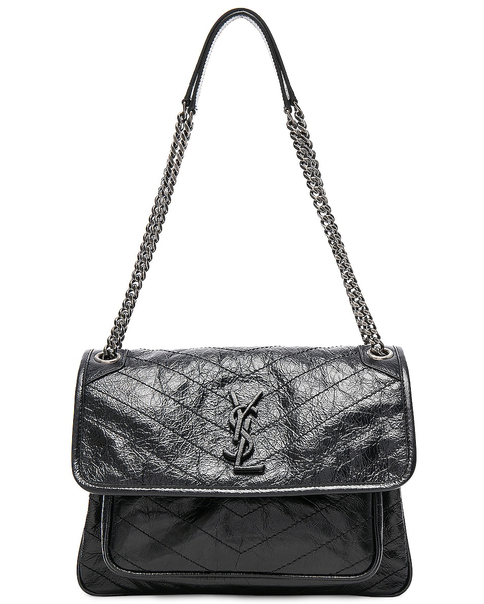 Image 1 of Saint Laurent Medium Niki Monogramme Chain Bag in Black