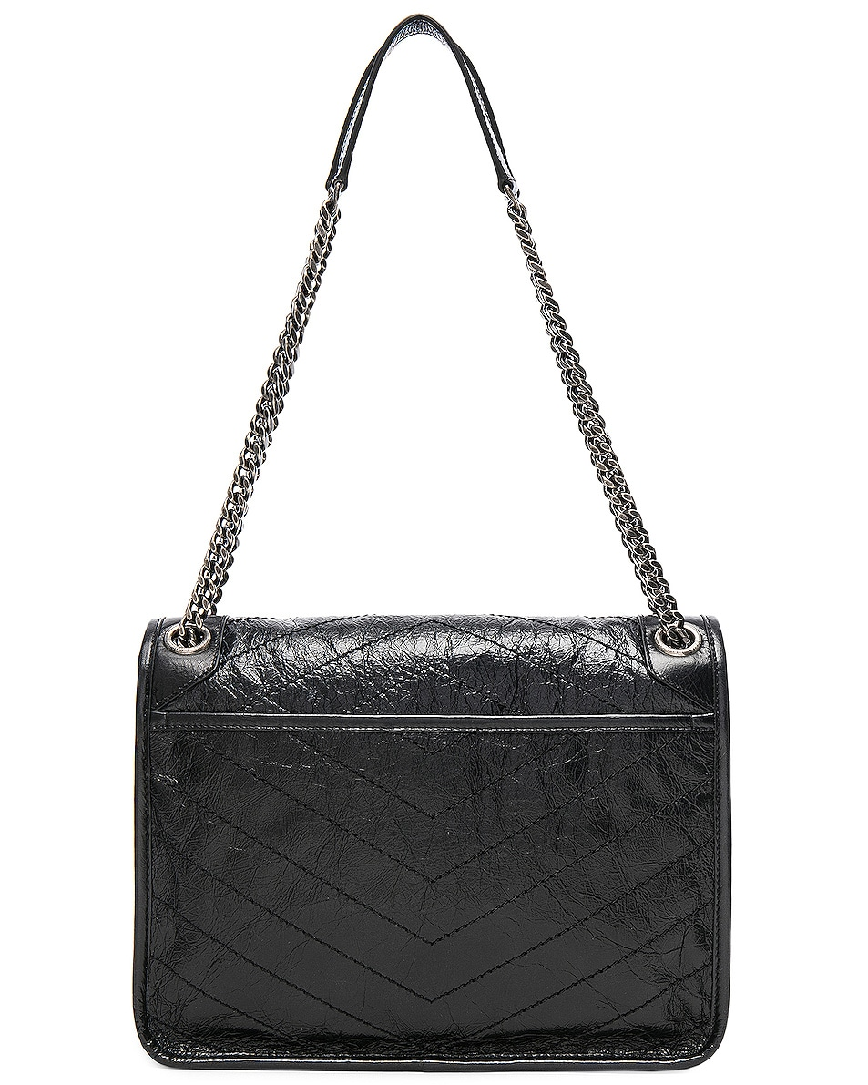 Image 3 of Saint Laurent Medium Niki Monogramme Chain Bag in Black