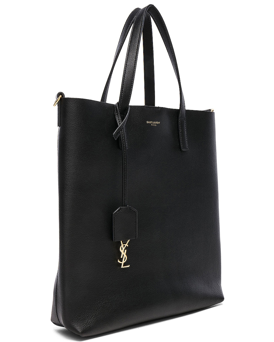 Image 4 of Saint Laurent Toy North South Tote Bag in Black