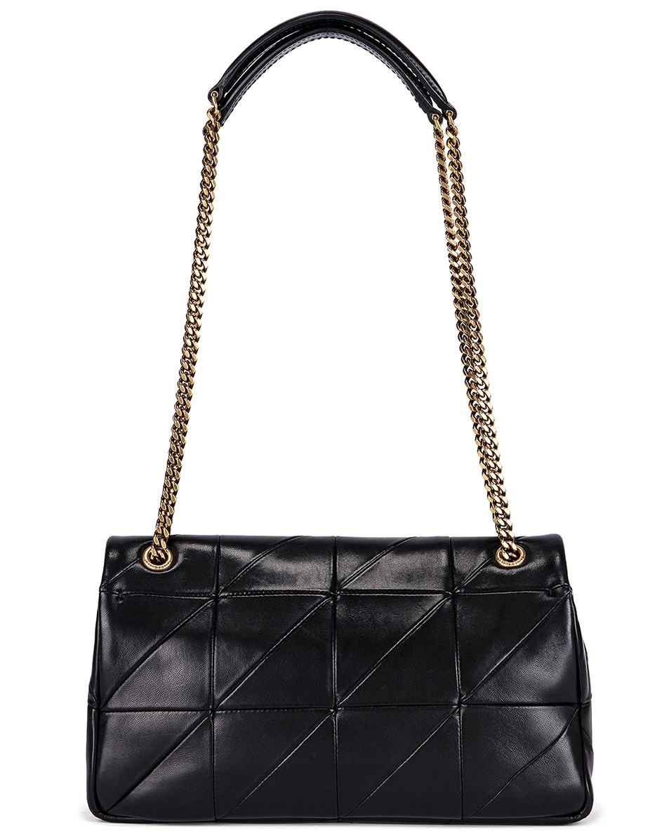 Image 2 of Saint Laurent Small Patchwork Leather Monogramme Jamie Chain Bag in Black