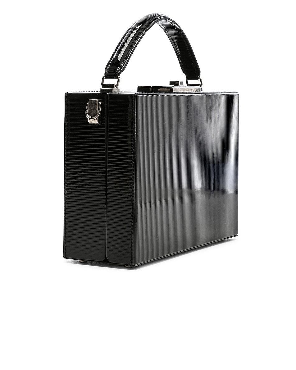 Image 4 of Saint Laurent Nan Leather Box Bag in Black