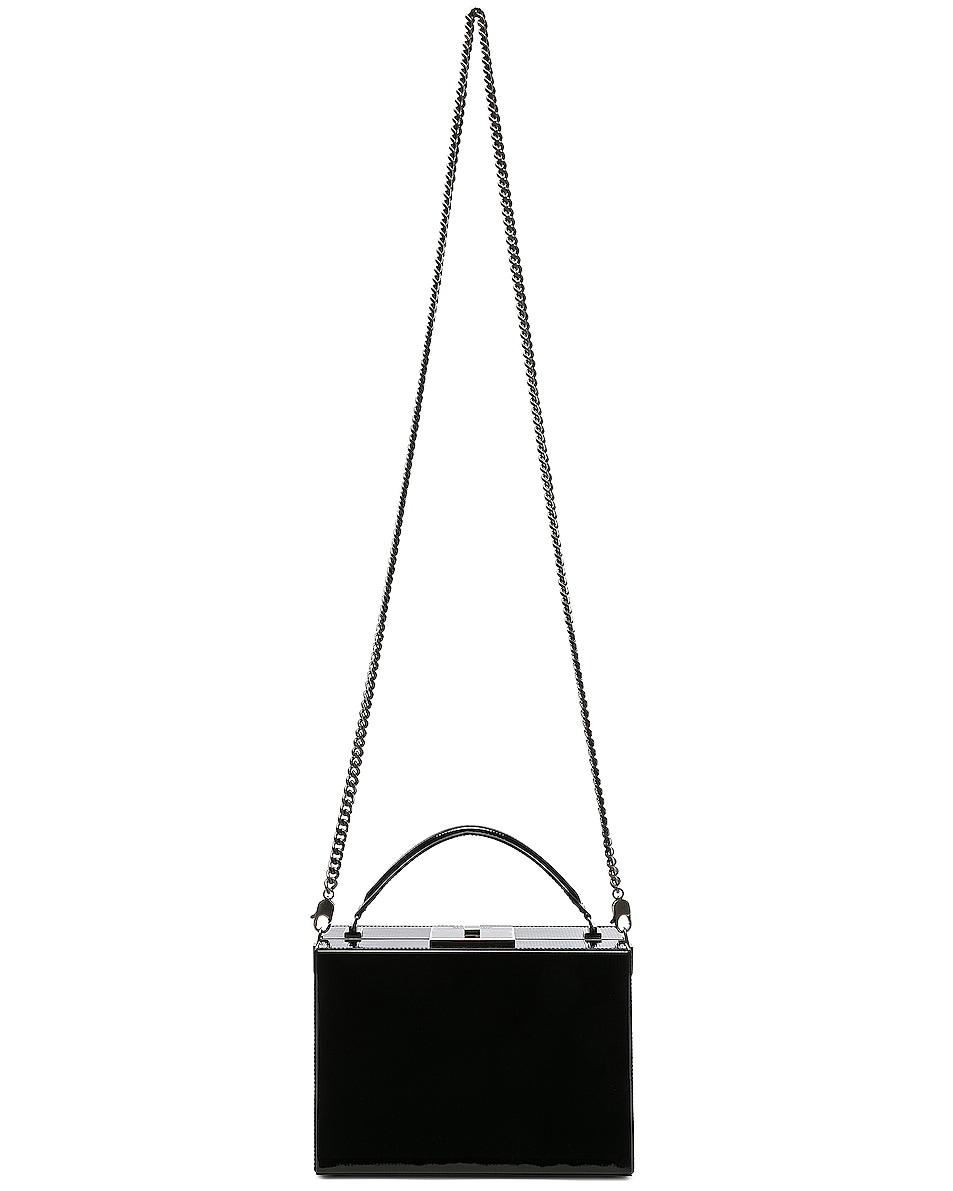Image 6 of Saint Laurent Nan Leather Box Bag in Black