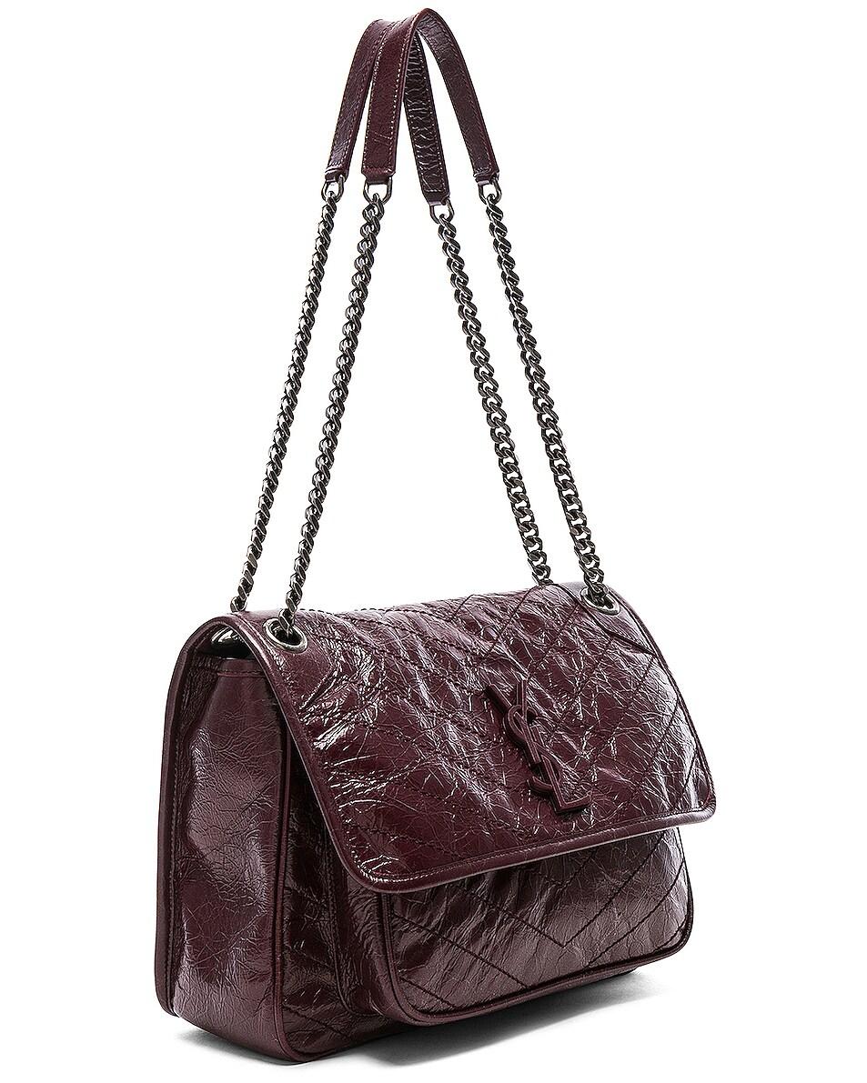 Image 4 of Saint Laurent Medium Monogramme Niki Chain Bag in Legion Red