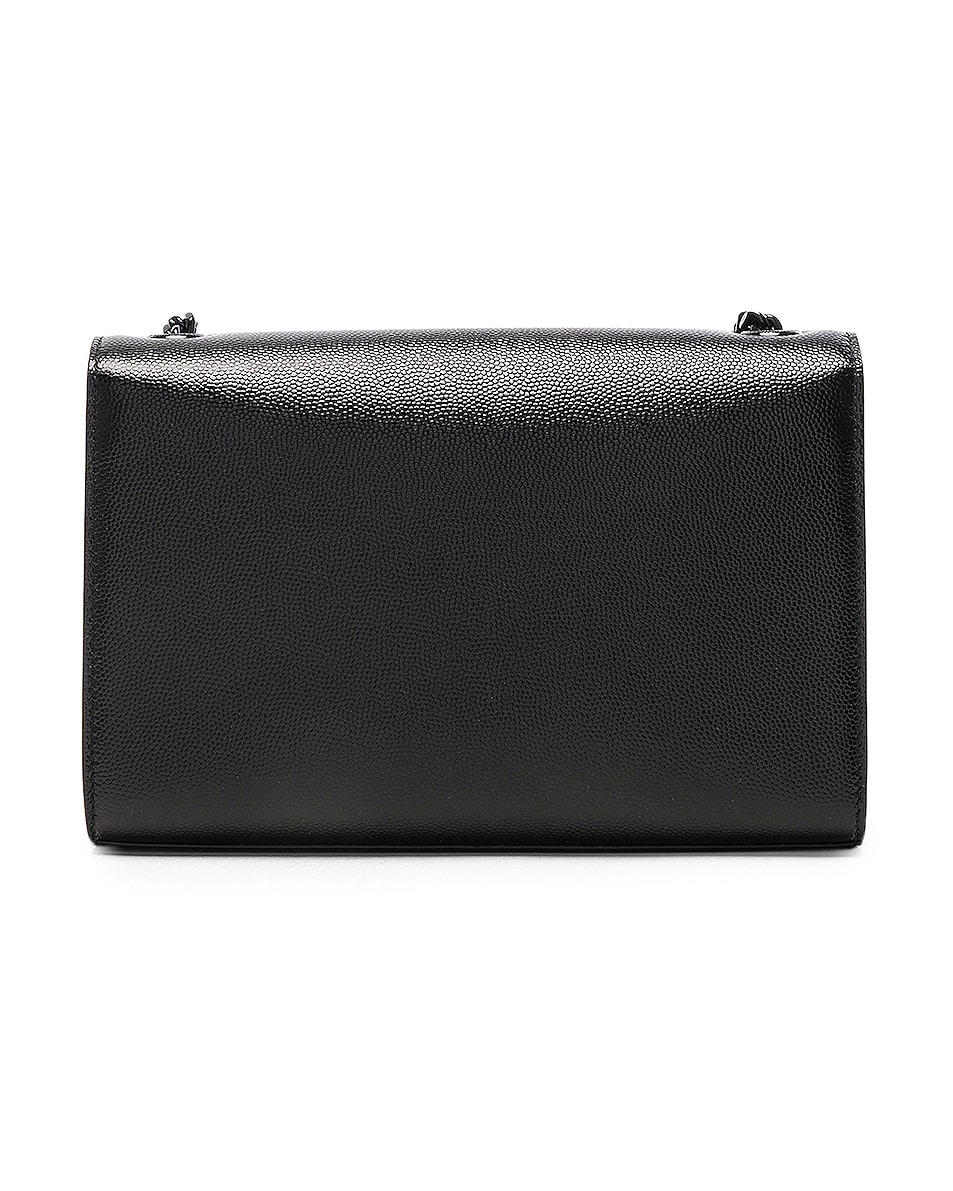 Image 3 of Saint Laurent Small Monogramme Kate Chain Bag in Black & Black