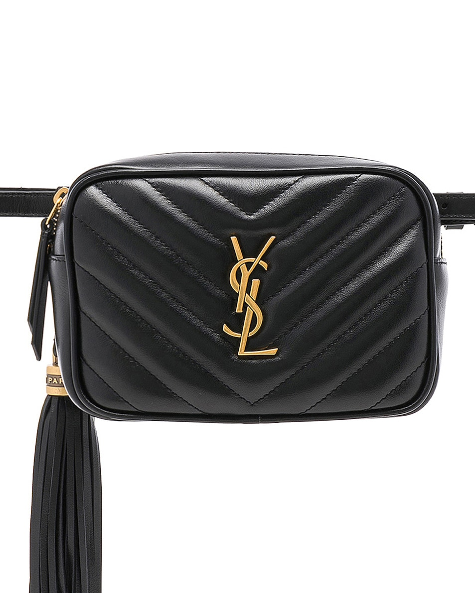 Image 1 of Saint Laurent Monogramme Lou Hip Belt with Pouch in Black