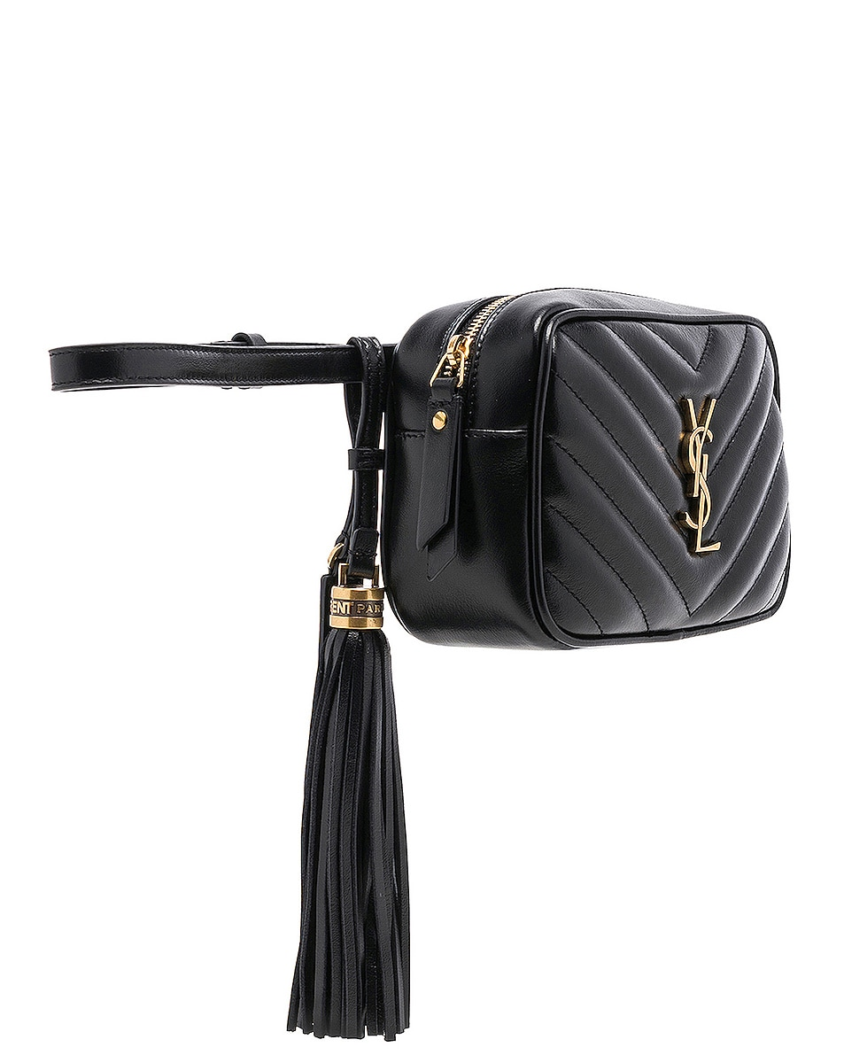 Image 4 of Saint Laurent Monogramme Lou Hip Belt with Pouch in Black
