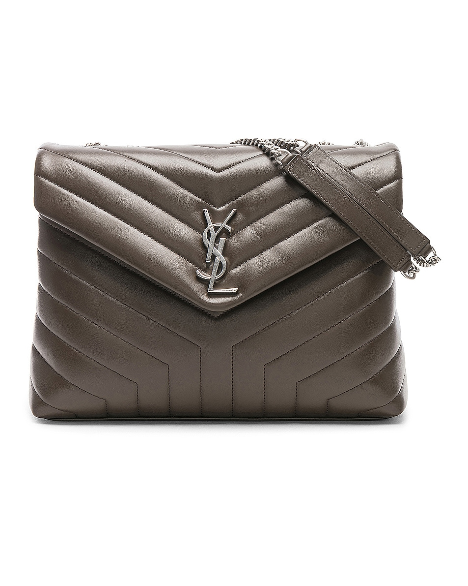 Image 1 of Saint Laurent Monogramme LouLou Shoulder Bag in Faggio & Faggio