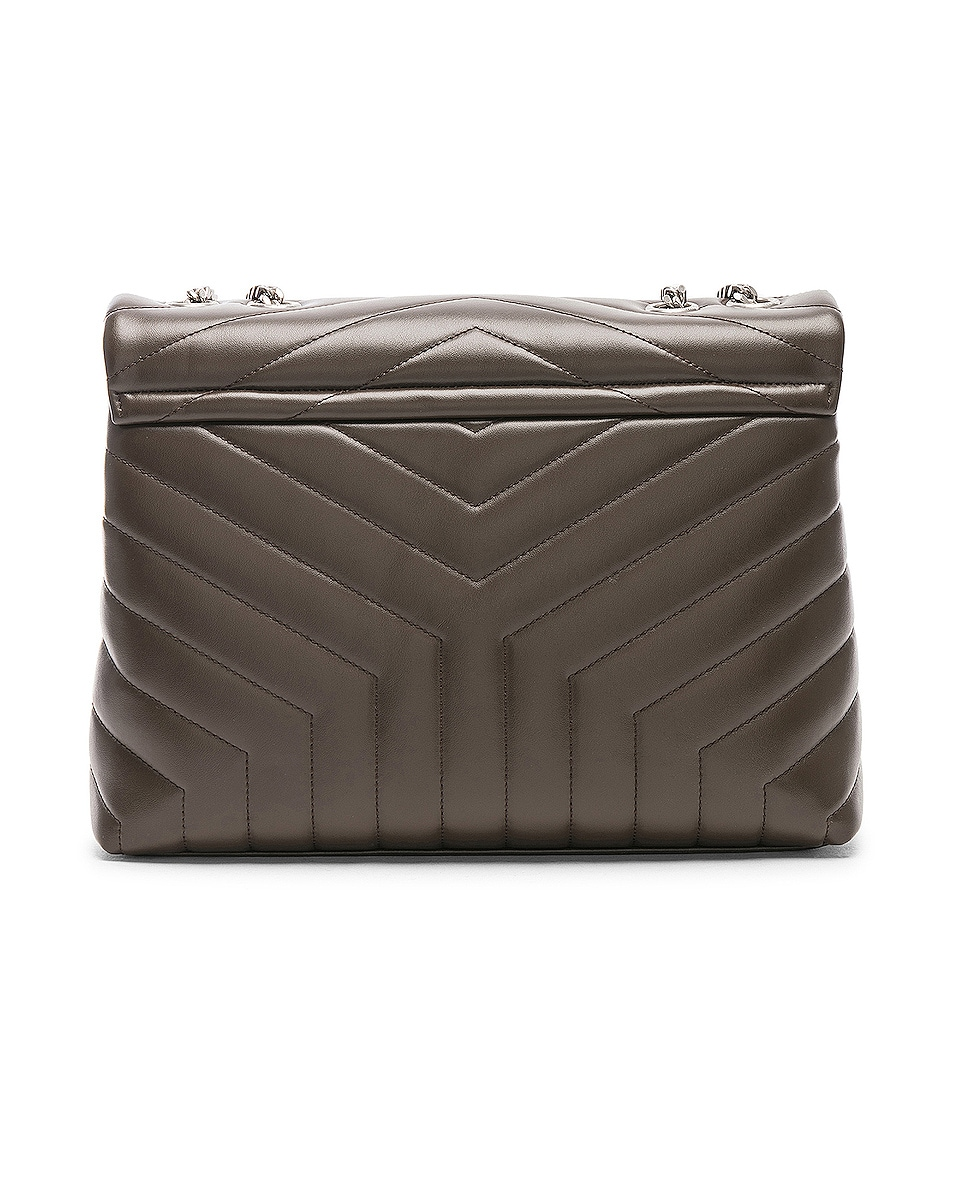 Image 3 of Saint Laurent Monogramme LouLou Shoulder Bag in Faggio & Faggio