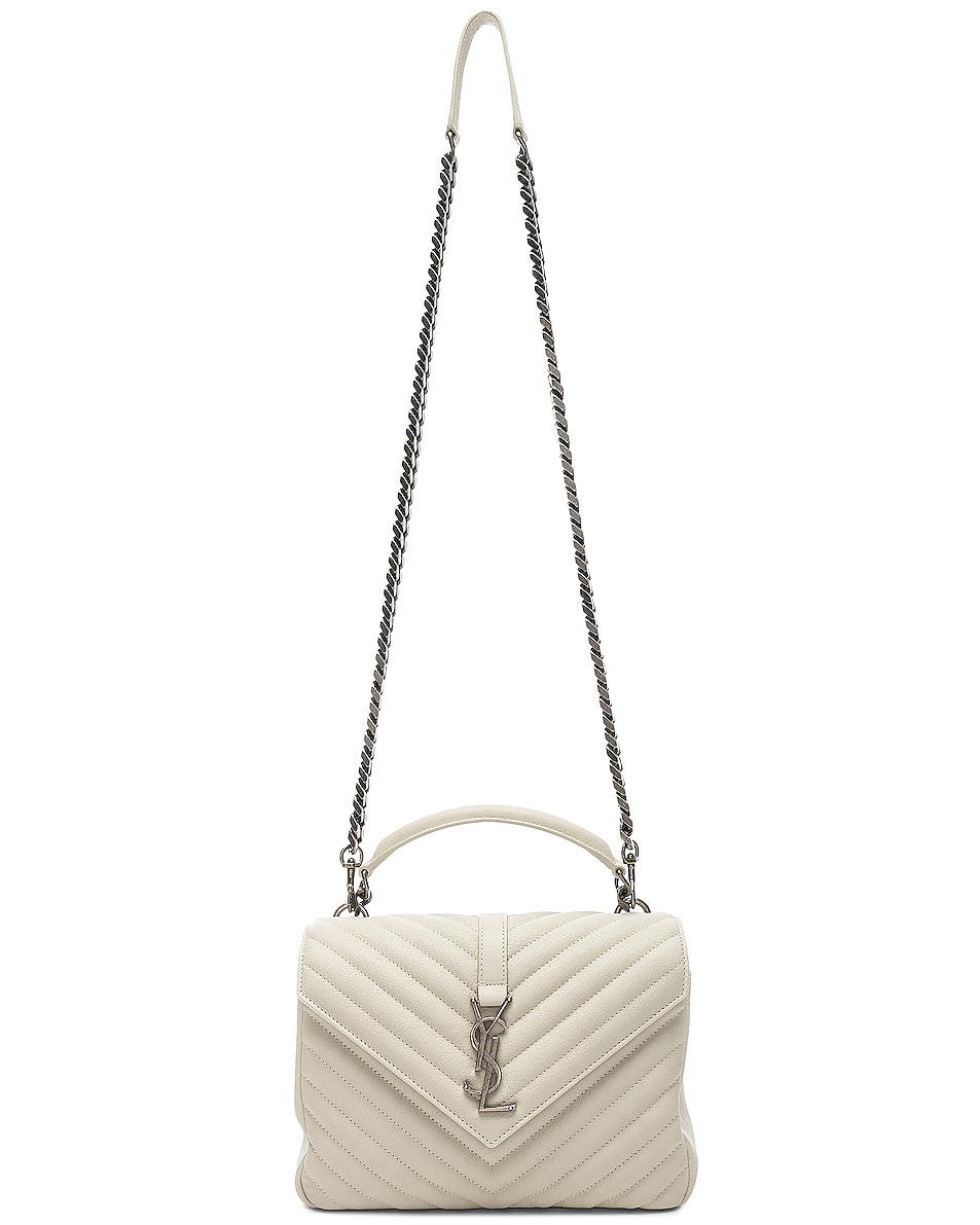 Image 6 of Saint Laurent Medium Monogramme College Bag in Crema Soft