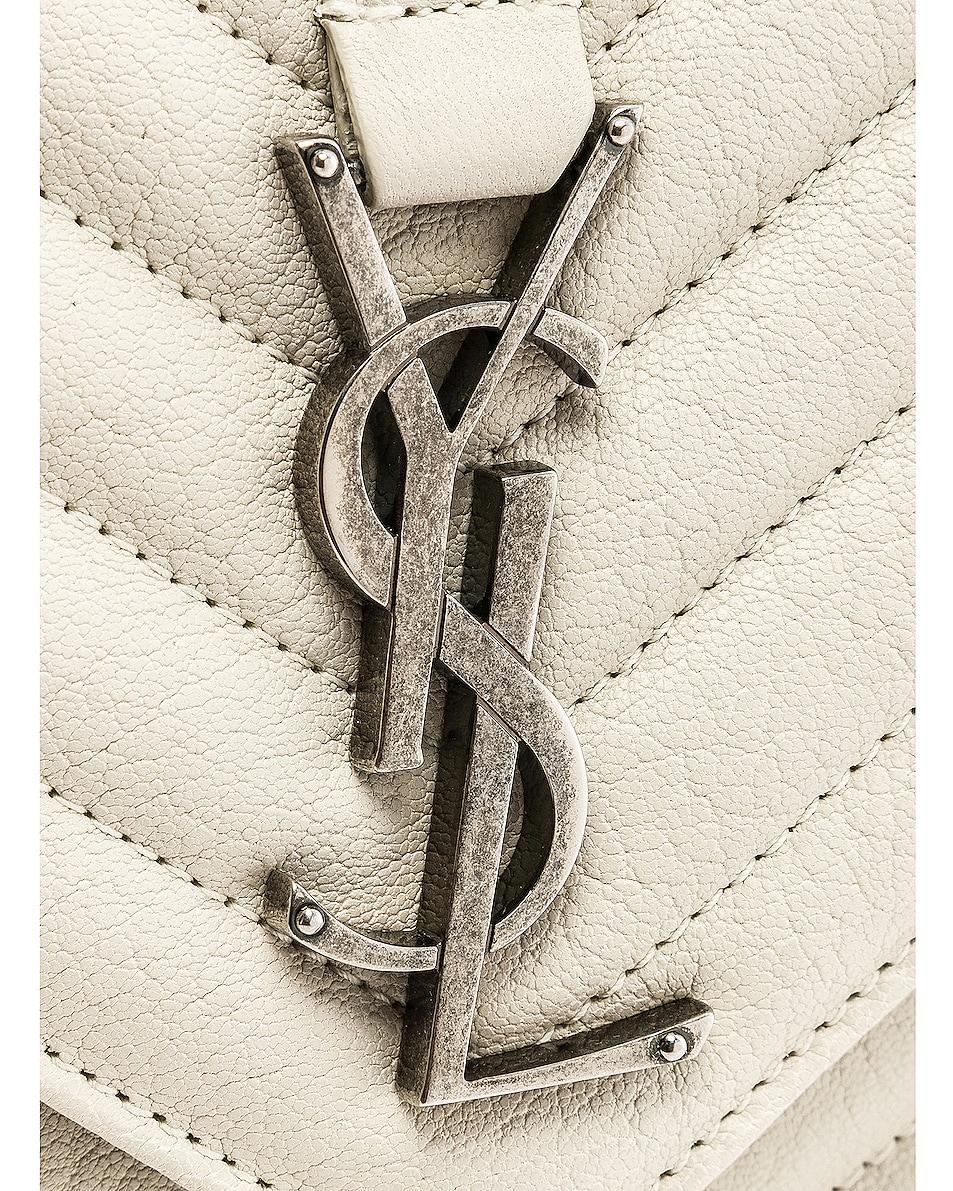 Image 8 of Saint Laurent Medium Monogramme College Bag in Crema Soft