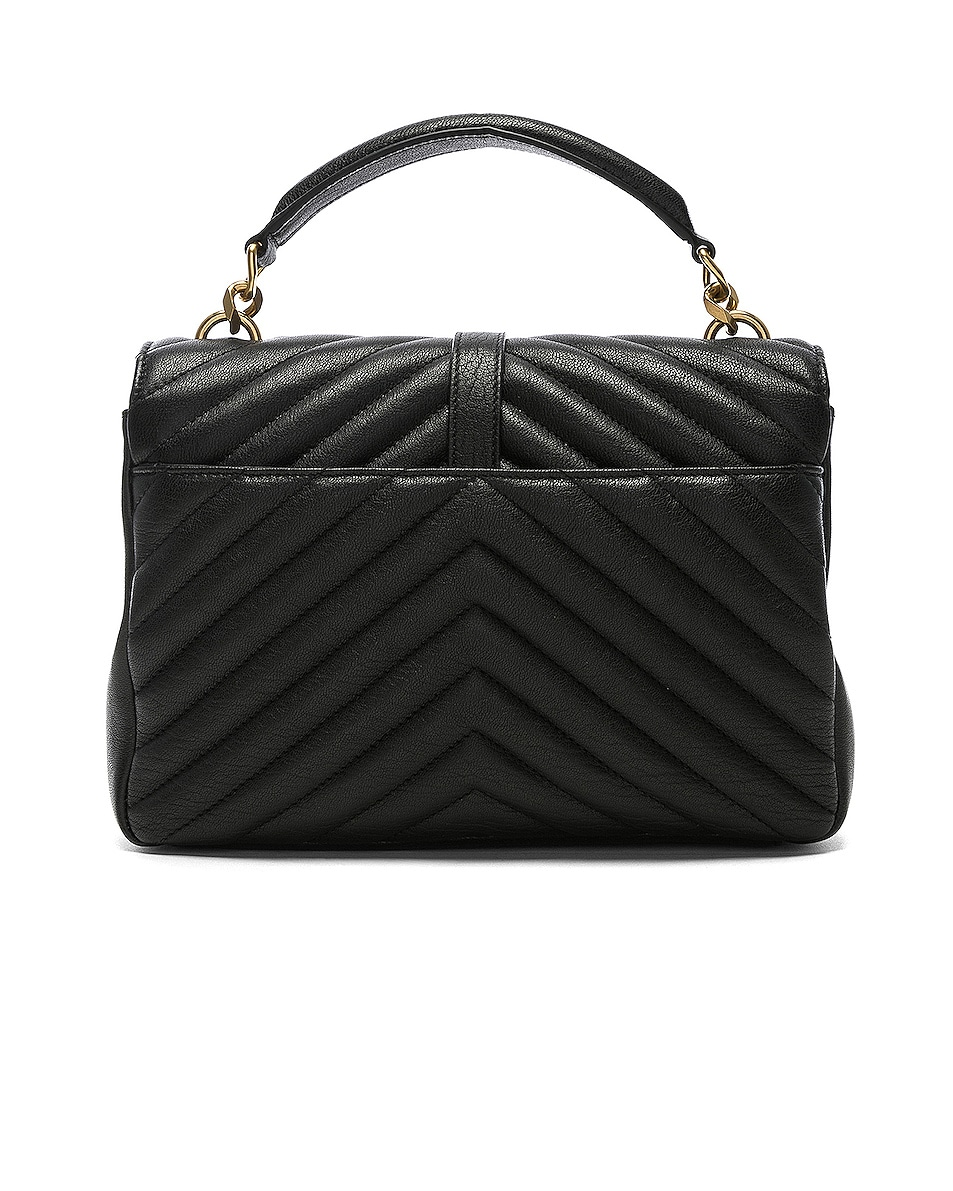 Image 3 of Saint Laurent Medium Monogramme College Bag in Black