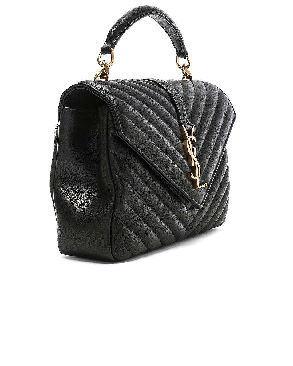 Image 4 of Saint Laurent Medium Monogramme College Bag in Black