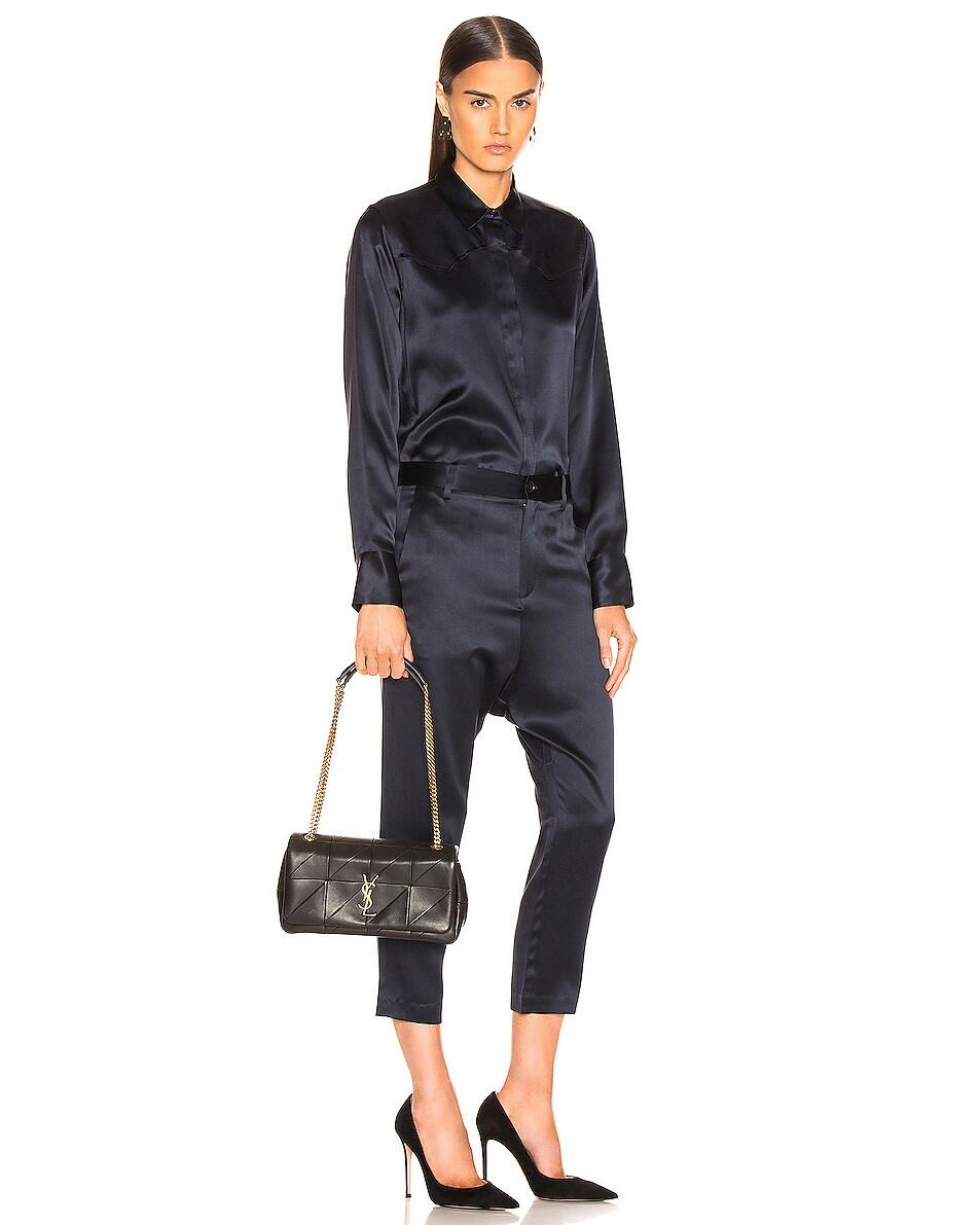 Image 2 of Saint Laurent Medium Monogramme Jamie Chain Bag in Black