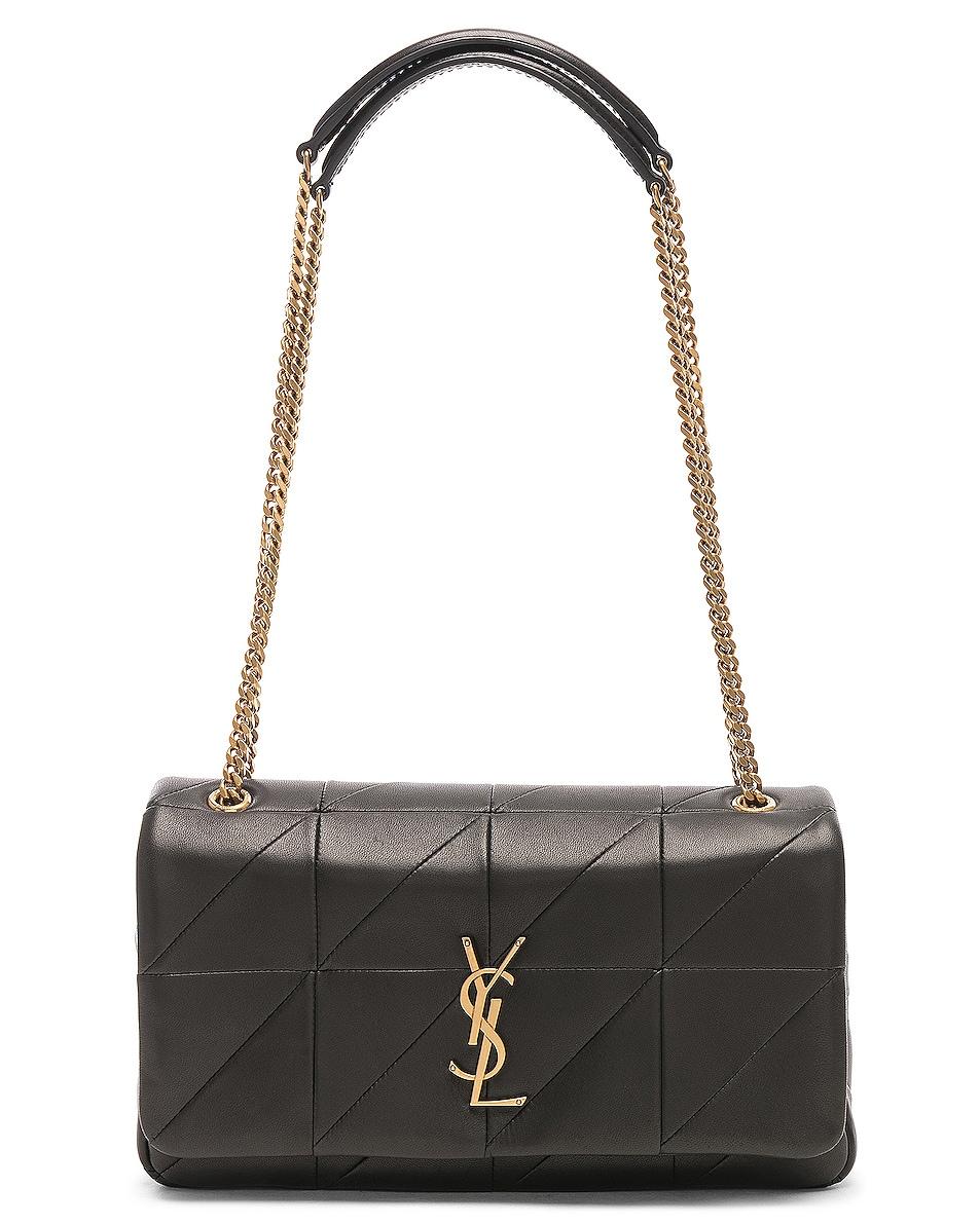 Image 6 of Saint Laurent Medium Monogramme Jamie Chain Bag in Black