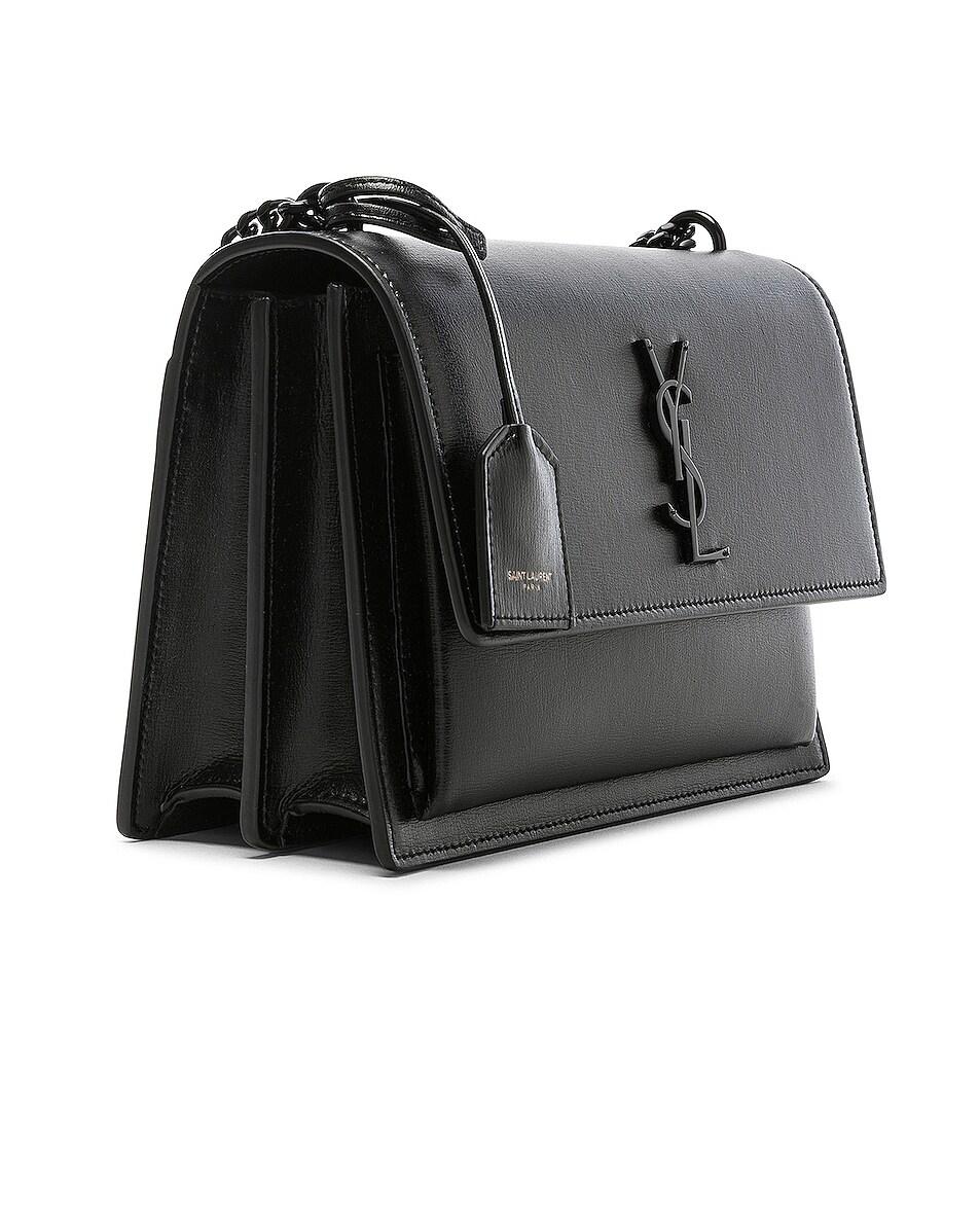 Image 4 of Saint Laurent Monogramme Sunset Shoulder Bag in Black