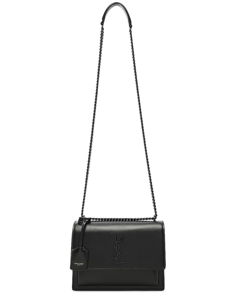 Image 6 of Saint Laurent Monogramme Sunset Shoulder Bag in Black