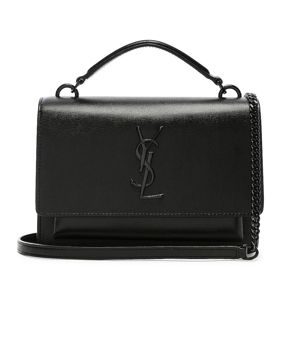 Image 1 of Saint Laurent Sunset Monogramme Bag in Black
