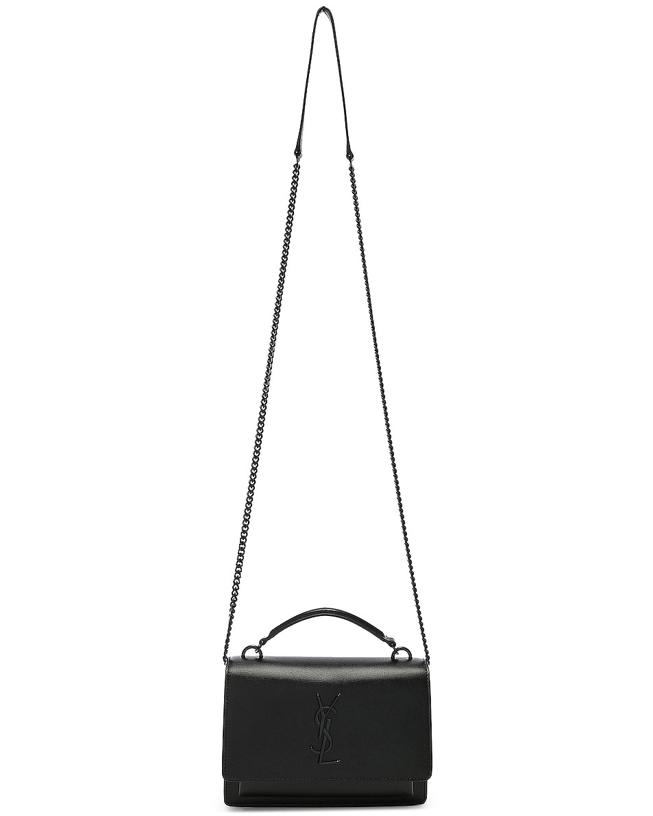 Image 6 of Saint Laurent Sunset Monogramme Bag in Black
