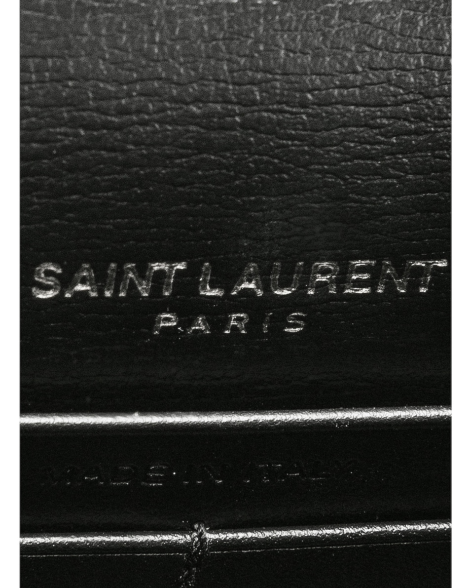 Image 7 of Saint Laurent Sunset Monogramme Bag in Black