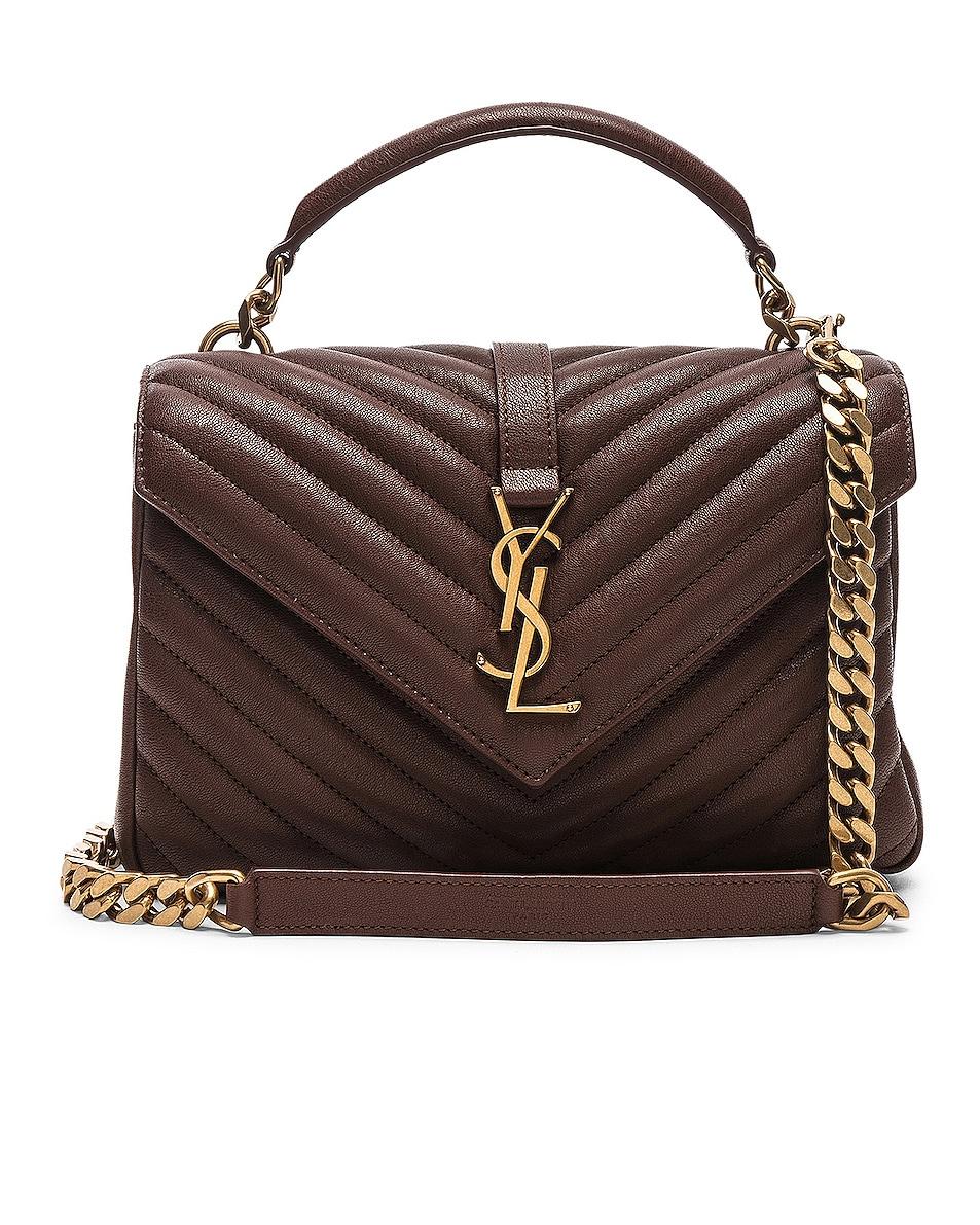 Image 1 of Saint Laurent Medium Monogramme College Bag in Old Brandy